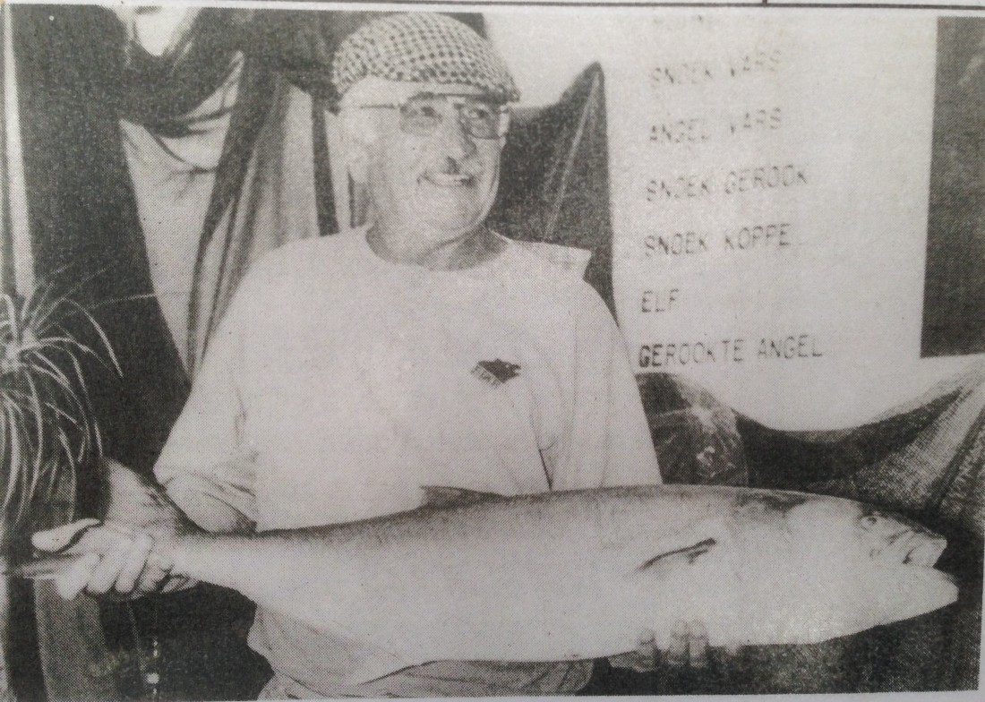 This elf was caught in 1983 in Langebaan and weighed 10,4kg